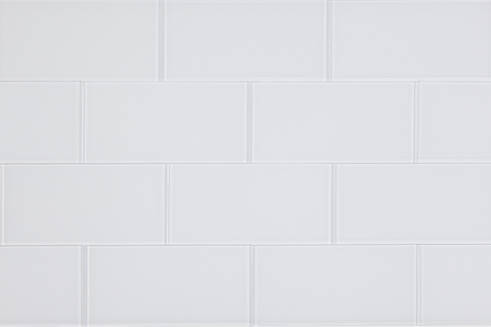 Subway glass tile mosaics come in 2x4 and 3x6 south cypress slimglass 3 x 6 white glass subway tile dailygadgetfo Gallery