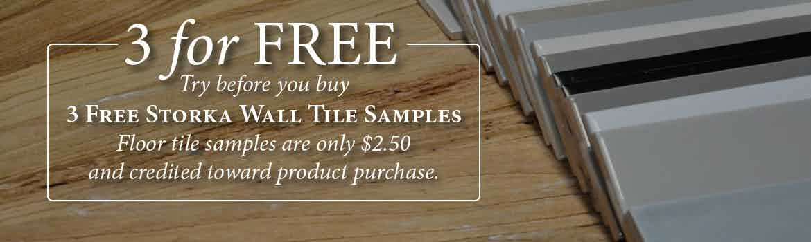 3 Free Wall Tile Samples