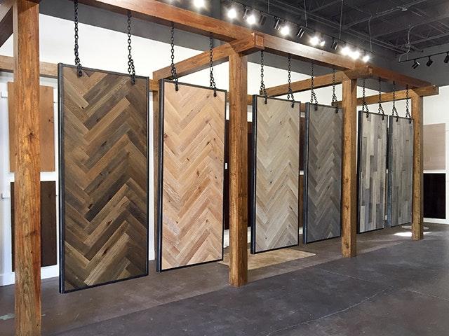 Hardwood Flooring Display In Our Birmingham Store