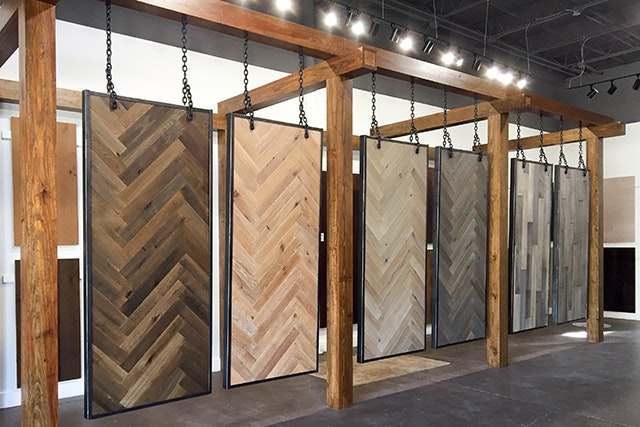 Hardwood Flooring Display In Our Birmingham Store